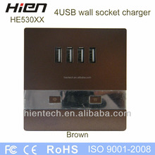 2014 hot selling usb extension socket 5V3A USB socket 4 USB ports charge 4 products directly