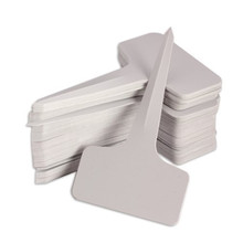 100pcs 6 x10cm Plastic Plant T-type Tags Markers Nursery Tray Garden Labels Gray Color Free Shipping