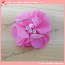 Low MOQ in stock baby sequin Chiffon bow, great for making headband