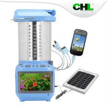 2015 Solar energy CHL solar led solar motion light with travel usb charger