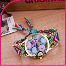 Ms best-selling national wind weave bracelets table Han edition DIY craft flower watch