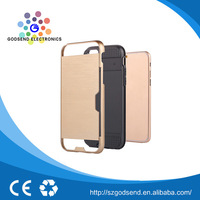 Hot sale perfect service TPU card slot hybrid cell phone case for iphone 6s