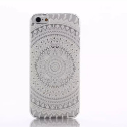 Hot Sell Painted Pattern PC Plastic Hard Transparent Case For iphone 5s