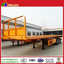 Factory Truck Semi Trailer,Three Axle Flat Bed For Sale