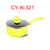 yellow coated ceramic mini saucepan commercial kitchen utensil