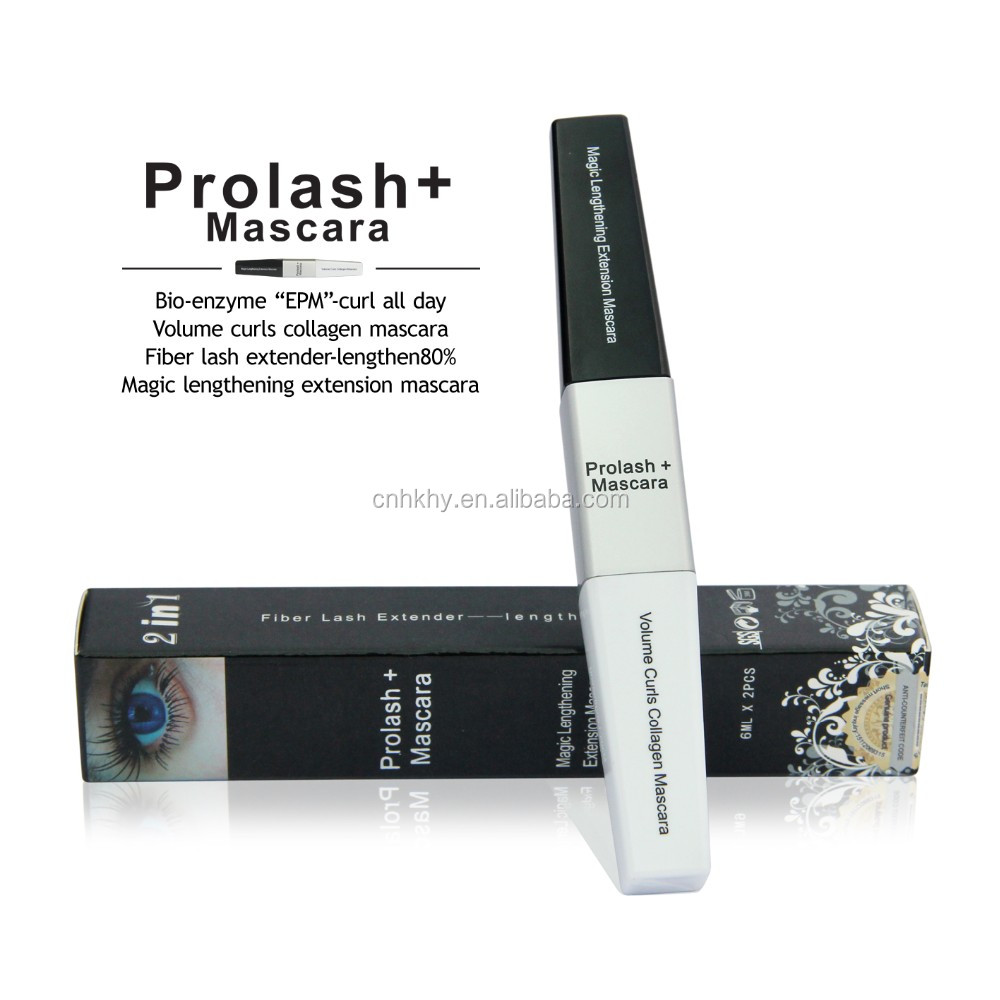 Long Curling Eye Lashes Black Fiber Eyelash Mascara Prolash Volume