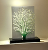 Modern lucky tree clear resin chinese fengshui products