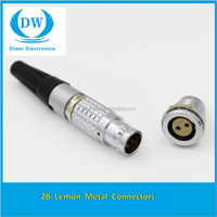 Lemos FGG.2B.303.CLAD92Z, 2B Series, 3 Pole Male Straight Cable Mount Circular Connector, Shell Size 2, IP50