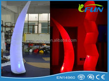 Automatic remote control color inflatable elephant tusk with led light/led inflatable tusk