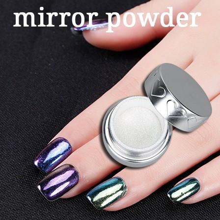 Top Vernis à ongles miroir effet glitter pigment chrome magique  KI08