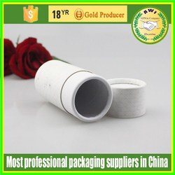 white color round tube paper packaging essential oil gift box