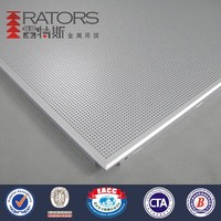 Cost price high quality perforated metal false ceiling tile