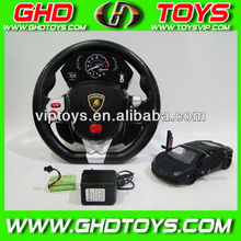 wholesale 1:24 4CH Authorized lamborghini LP700 rc car with steering wheel controller