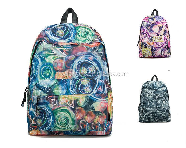 Conception fraîche et de la mode vintage colorée toile sac à dos pour les adolescents