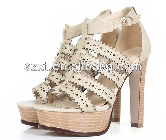 2014 nuevos estilos de las sandalias romanas de mujer moda para mujer de las muchachas alto talón de las sandalias de las imágenes