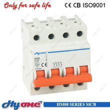 2015 china factory 4 pole mcb 415v 50/60hz bkn mini circuit breaker