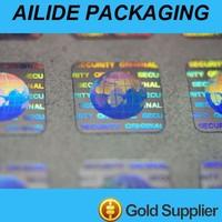 customized holographic label sticker anti counterfeit