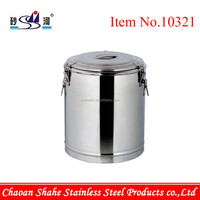 Stainless Steel Double Wall Structure Heat Insulated Barrel Small Trial Quantity Order Accept