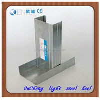 Stud and track for standard ceiling drywall metal tracks / gypsum board