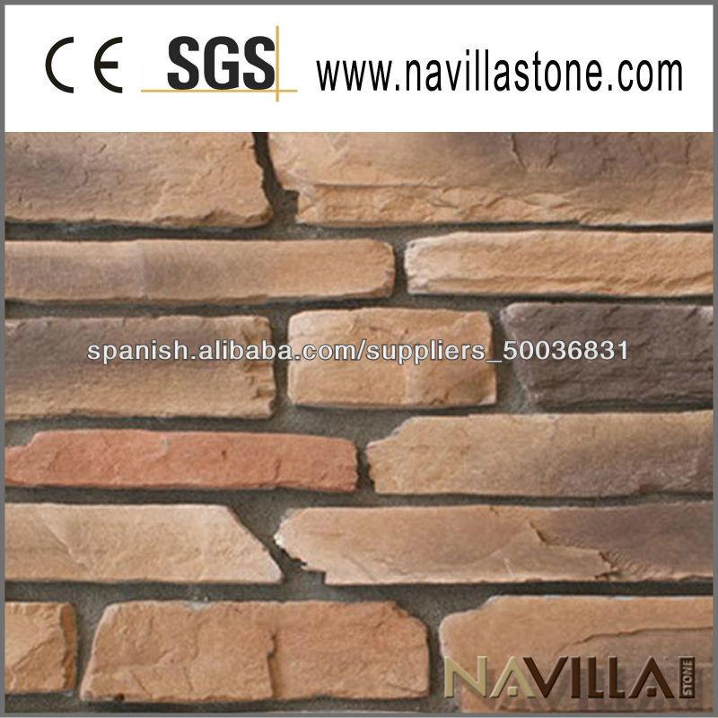 Pared exterior de revestimiento de piedra piedra - Paredes de piedra artificial ...