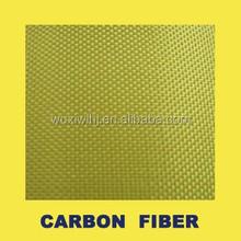 yellow carbon Aramid fabric,Yellow Carbon Aramid Hybrid Fabrics, Carbon Aramid Fiber Cloth
