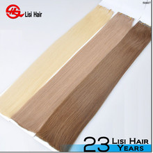 2015 Hot New Arrival Super Tape Waterproof PU Virgin Remy Top Quality method of tape hair extensions