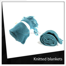 Fashion Organic Cotton Knitted Blanket