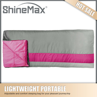 hollow fibre envelope sleeping bag for travel and outdoor sports