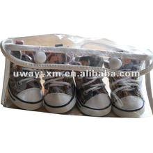 UW-PSS-023 2012 New fashion Autumn design,comfy camo canvas pet shoes,dog shoes,cat shoes