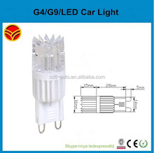 220v-240v 2w 170lm ceramic 300 degree g9 led lamp 16x43mm TUV approval