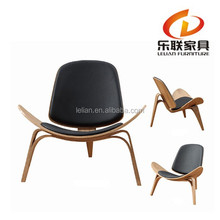 Guangdong Foshan Lelian Modern furniture Lounge Mid Century Wegner Wood Shell Dining Chair A022