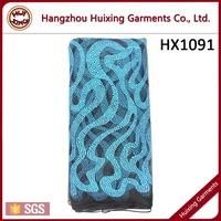 Blue lace fabric, tulle lace, bulk lace fabric