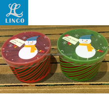 christmas plastic food storage container for gift