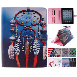 Printing Pattern Magnetic Stand Folio Tablet PU Leather Case Wallet Case for iPad mini 2/3/4