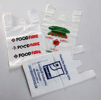HDPE recyclable plastic t shirt bag supermarket shopping bag plastic bag