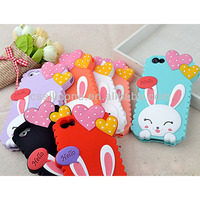 2014 the most popular beautiful Wholesale mobile rabbit shape silicone phone case