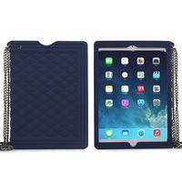 Classic Handbag Pattern Silicone Case for iPad Mini with Chain
