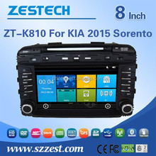 In dash 8 inch touch screen car dvd player for KIA 2015 Sorento with GPS+SWC+BT+3G+DVD+Radio+WIFI+Digital TV