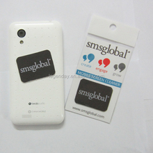 Hot sell microfiber mobile phone sticker screen cleaning wipe screen cleaner