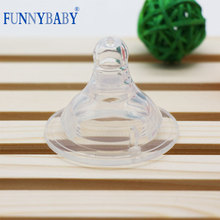 (Factory wholesale) Silicone baby feeding breast nipple real sense of wide caliber baby pacifier Fernie