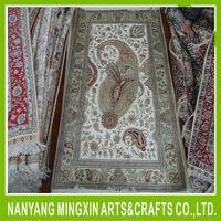 oriental pure silk hand knotted pakistan carpet
