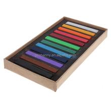 Nueva llegada de la alta calidad 12 colores no tóxico Salon Kit temporal de la tiza del tinte Soft Pastels Chalk Kit para belleza del cabello
