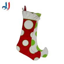 2014 Hot sale Cheap Wholesale tube corduroy and brushed fabric Christmas Stocking for Christmas Gift