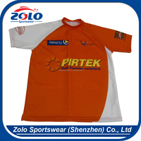 Cheap China factory custom made sublimated best looking orange rugby jerseys