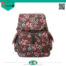 china online goods high quality fashion Korea backpacks for girls with little cute flowers