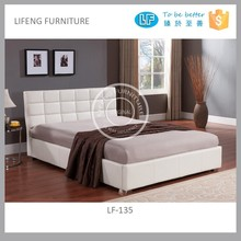 soft bed in Pu leather with upholstered padding on headboard LF-135
