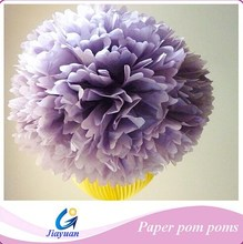 Popular in market! Purple Tissue Paper Pom Flowers Balls Wedding Party Decor