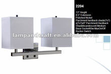 2015 UL hotel double wall lamp with power outlet and USB port