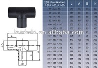 hdpe pipe fitting dimensions