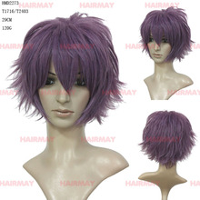 Top quality cheap new disign bob purple cosplay hair synthetic anime cosplay wig